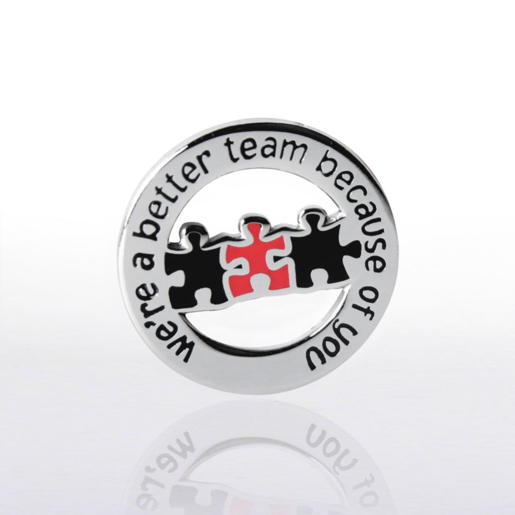 View larger image of Lapel Pin - Better Team Round