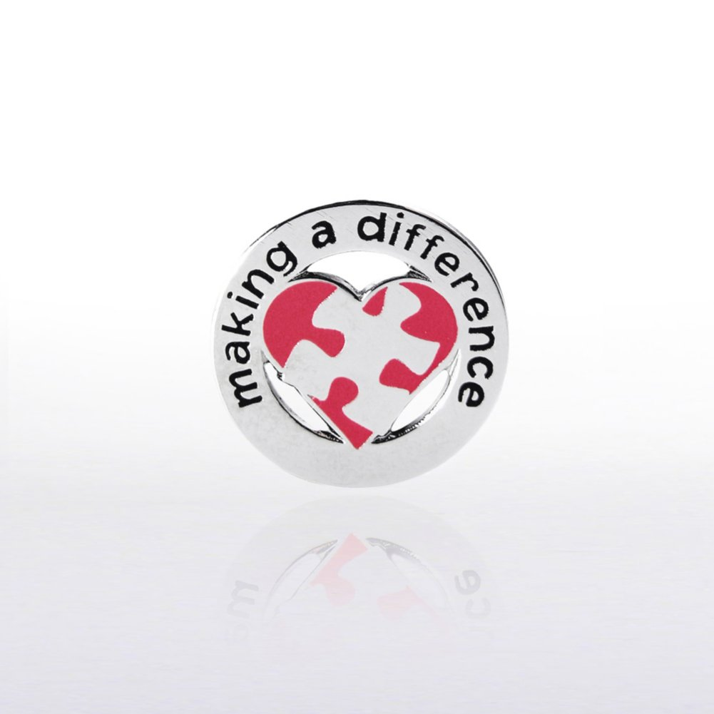 View larger image of Lapel Pin - Making a Difference Puzzle Heart