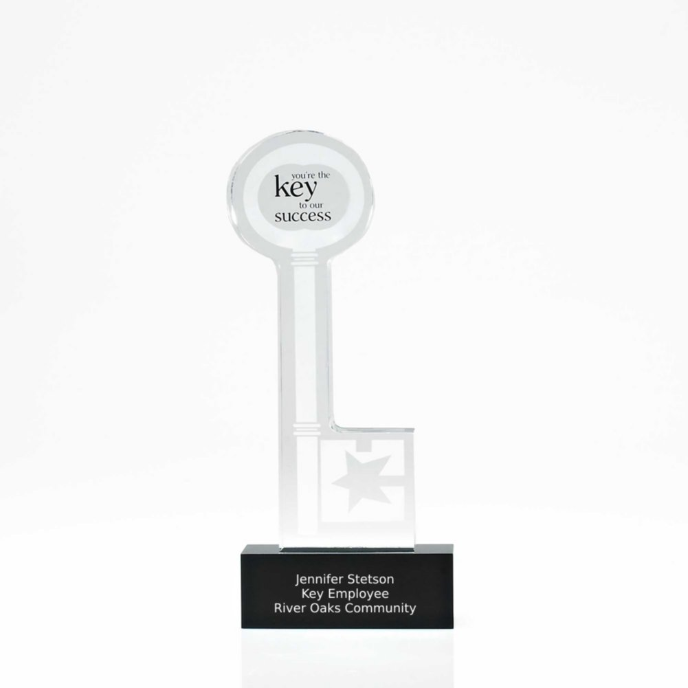 View larger image of Desktop Acrylic Trophy - Key to Our Success