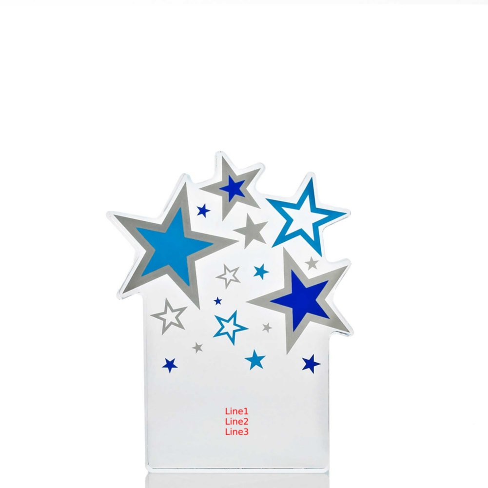 Desktop Acrylic Trophy - Stars