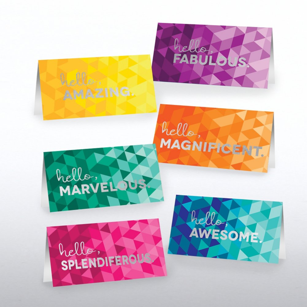 Foil-Stamped Pocket Praise - Hello, Awesome