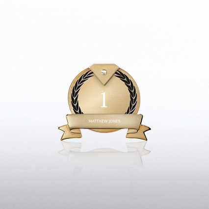 Personalized Anniversary Lapel Pin - Diamond Laurels