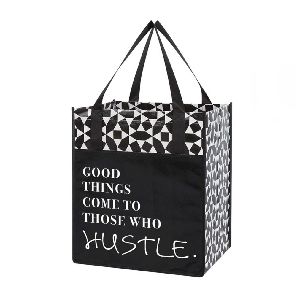 View larger image of Value Grocery Tote - Good Things Come To Those Who Hustle