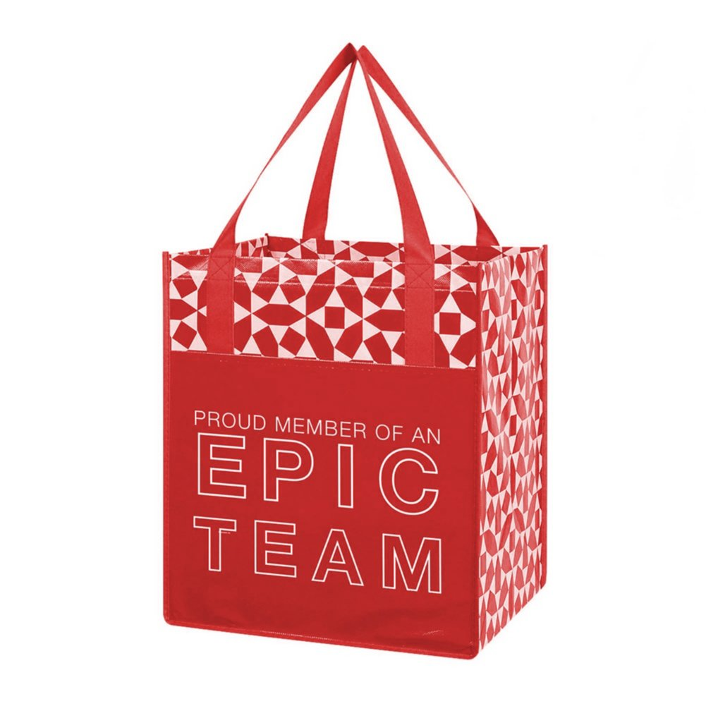 View larger image of Value Grocery Tote - Proud Member Of An Epic Team - RED
