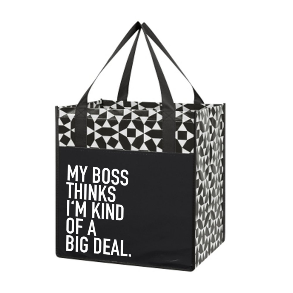 Value Grocery Tote - My Boss Thinks I'm Kind Of A Big Deal