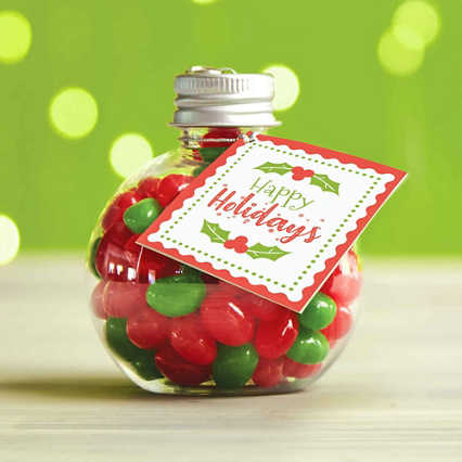 Jelly Bean Ornament - Happy Holidays
