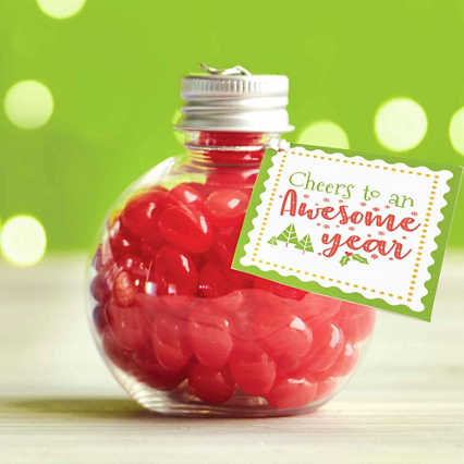 Jelly Bean Ornament - Cheers to an Awesome Year