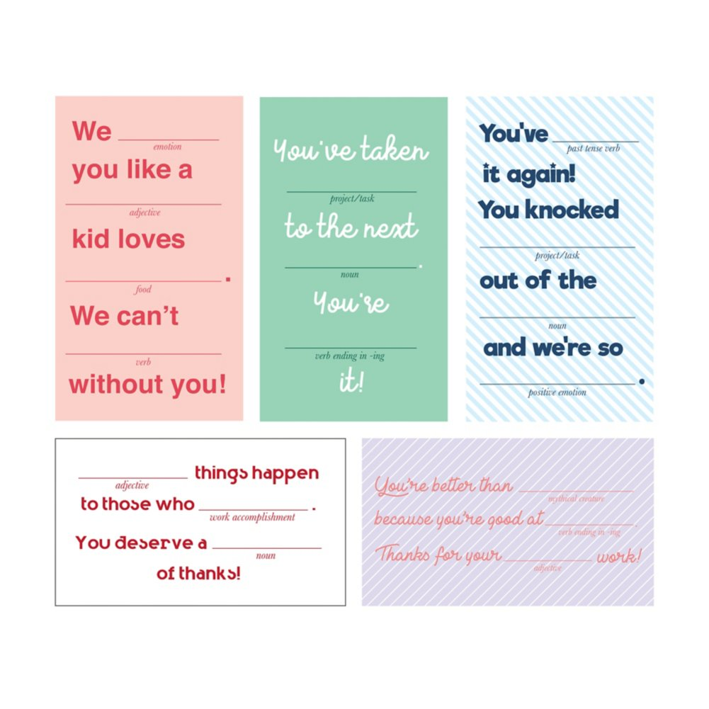 View larger image of Compliment Cards - Fill in the Blank
