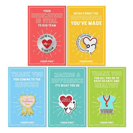 Cheer Pin Bundle - Heart of Healthcare