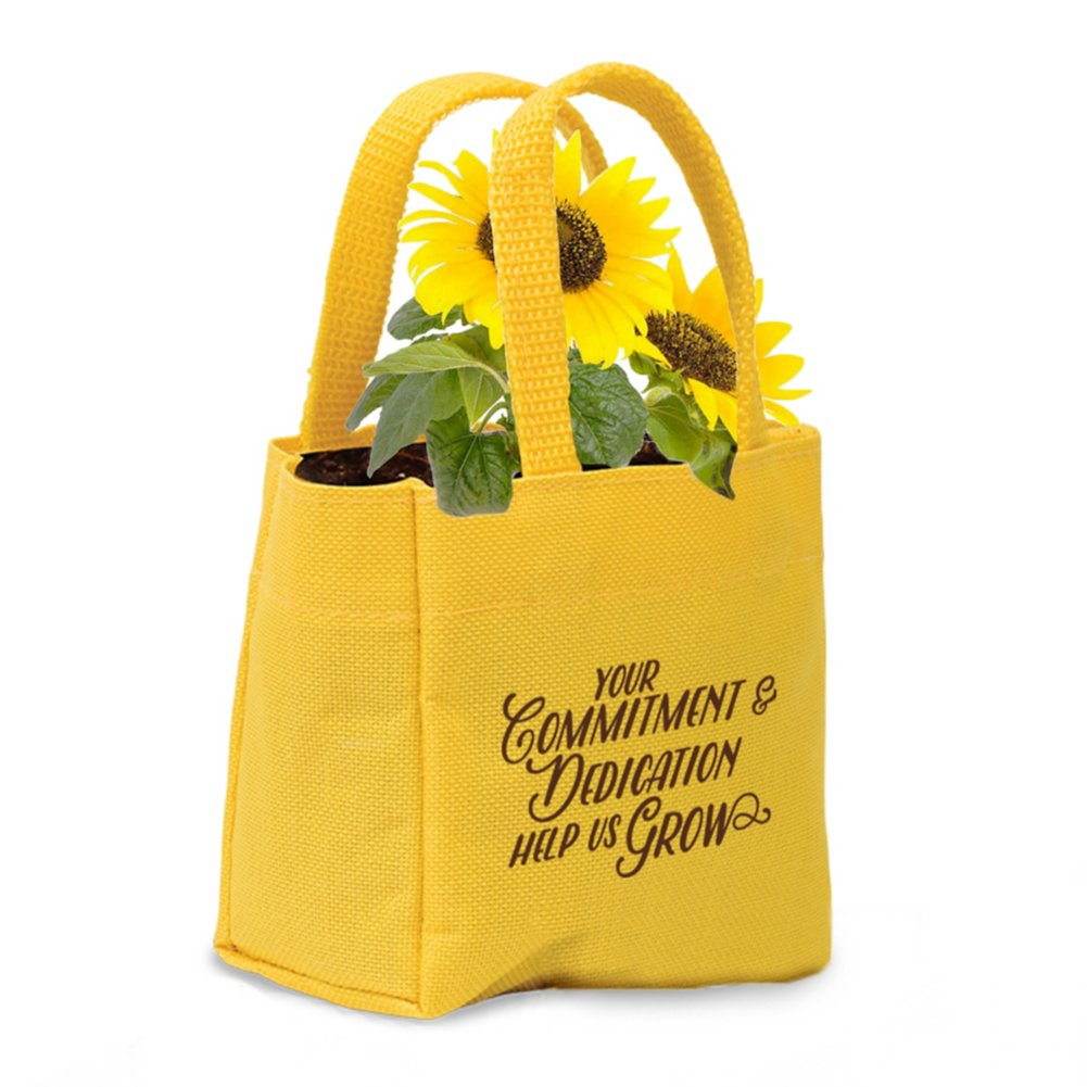 View larger image of Mini Tote Planter Set - Commitment & Dedication