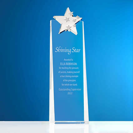 Crystalline Tower Trophy - Shooting Stars
