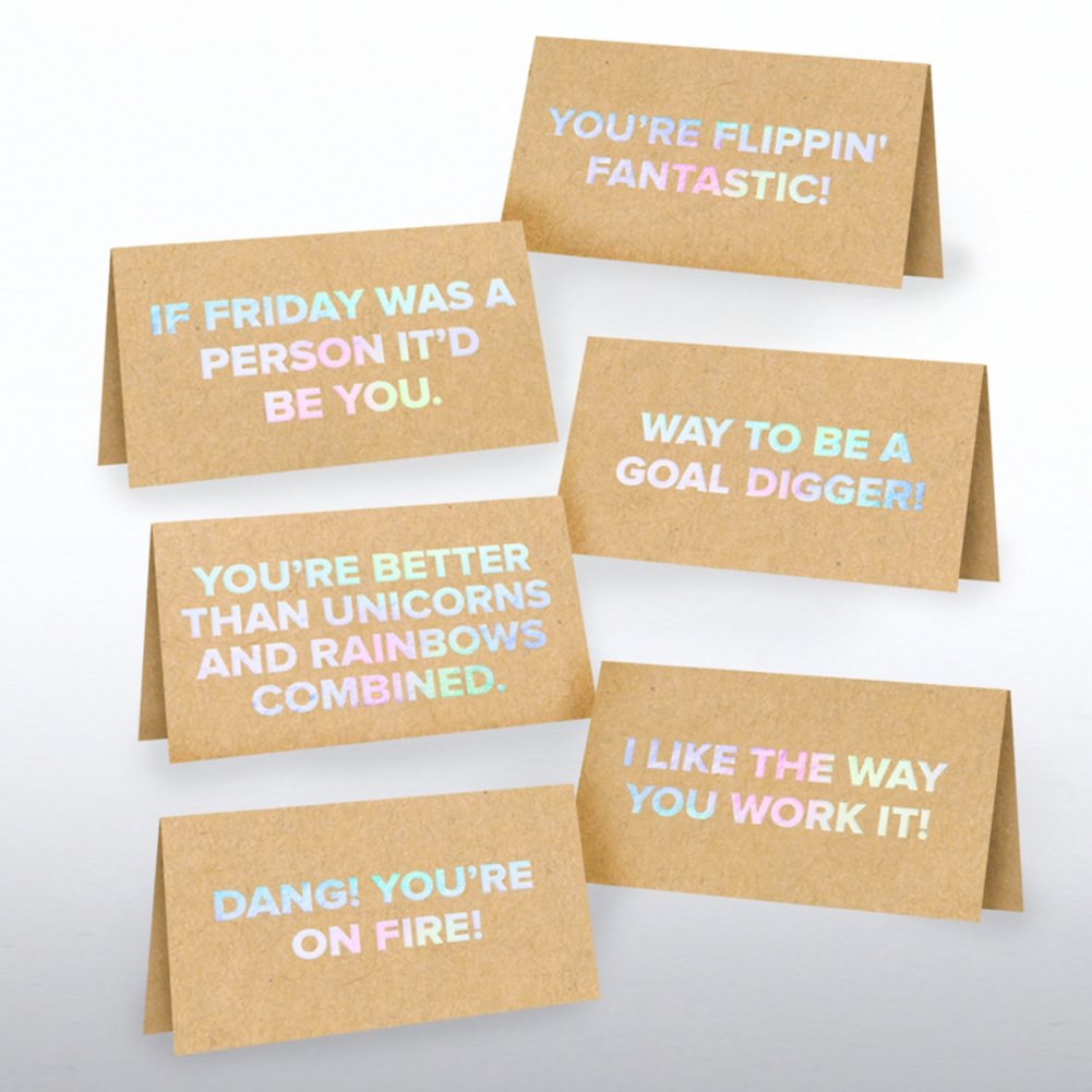 View larger image of Kraft Pocket Praise - Fun Flattery in Iridescent Foil
