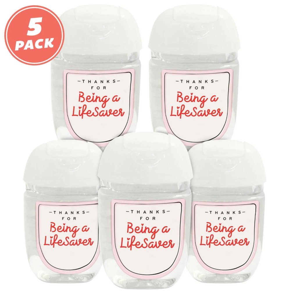 View larger image of Positive Pocket Hand Sanitizer 5-Pack: Thanks For Being a Lifesaver