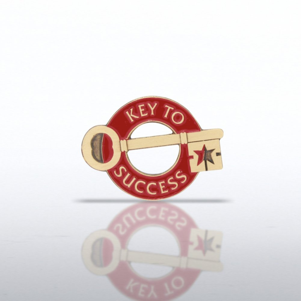 View larger image of Lapel Pin - Key to Success - Round