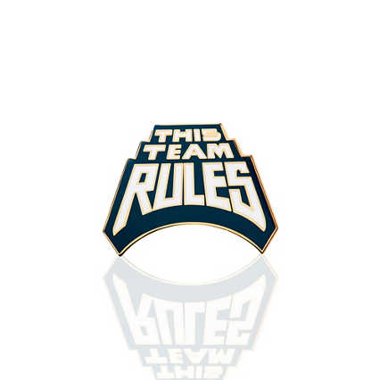 Lapel Pin - This Team Rules