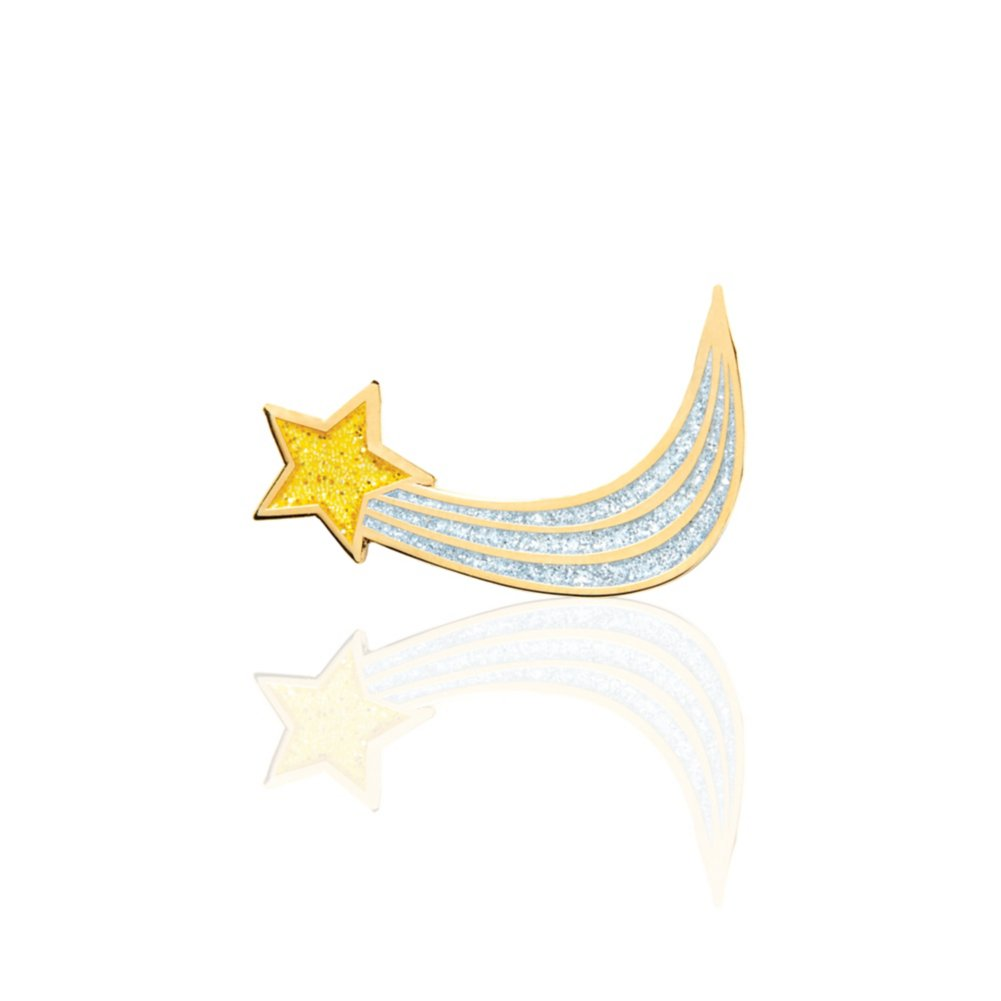 Lapel Pin - Glitter Shooting Star