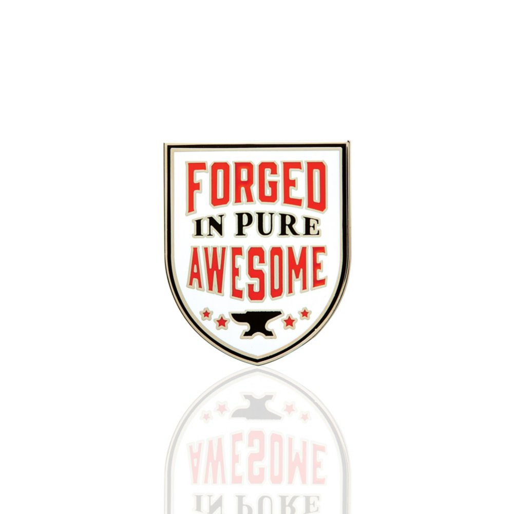 Lapel Pin - Forged In Pure Awesome