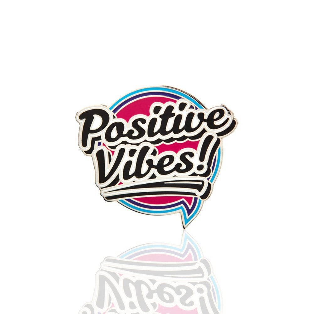 View larger image of Lapel Pin - Positive Vibes!