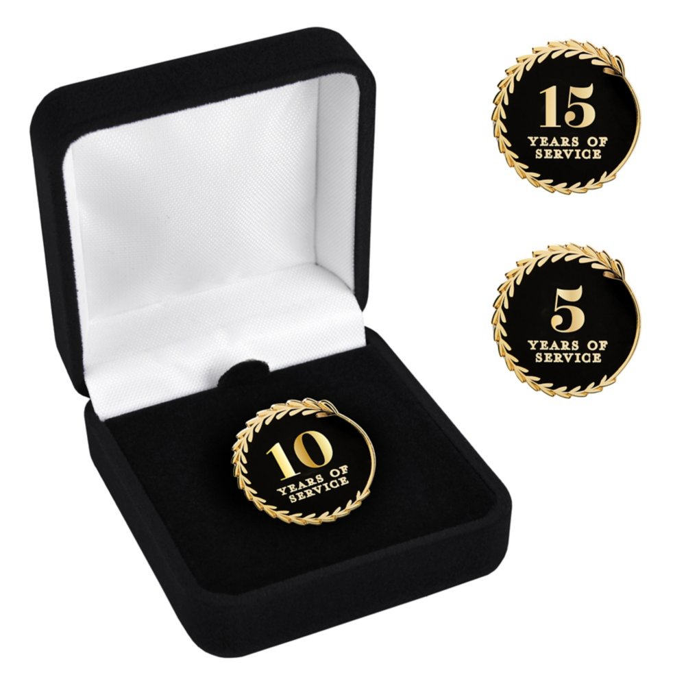 View larger image of Anniversary Lapel Pin - Years of Service Black and Gold
