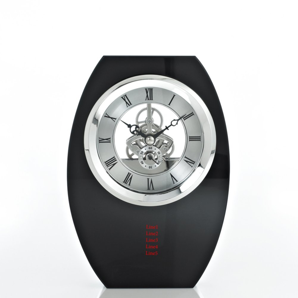 View larger image of Executive Crystal Skeleton Clock - Black Tower