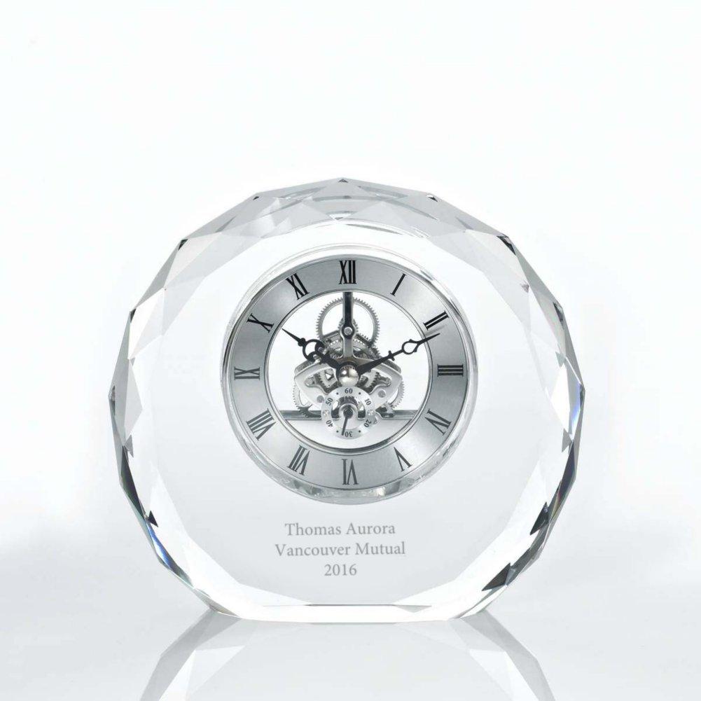 View larger image of Executive Crystal Skeleton Clock - Beveled Circle