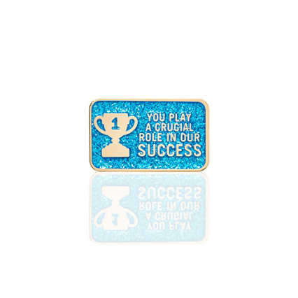 Lapel Pin - Blue Glitter - Role In Our Success