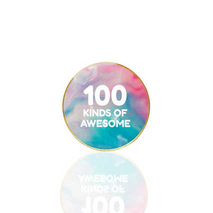 Lapel Pin - 100 Kinds Of Awesome