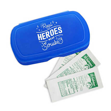 Pocket Sanitizer Kit: Real Heroes Wear Scrubs
