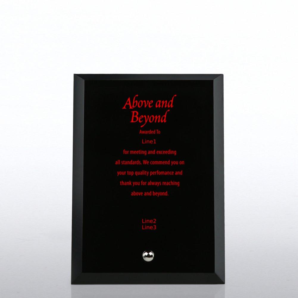 Trophy - Black Beveled Edge Glass Plaque