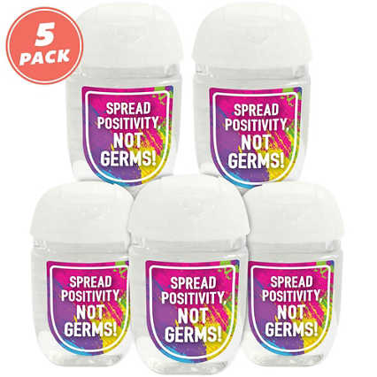 Positive Pocket Hand Sanitizer 5-Pack: Spread Positivity Not Germs!