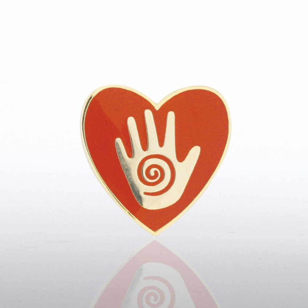 View larger image of Lapel Pin - Helping Hand in Heart