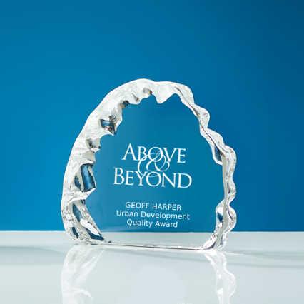 Petite Glacier Crystal Trophy
