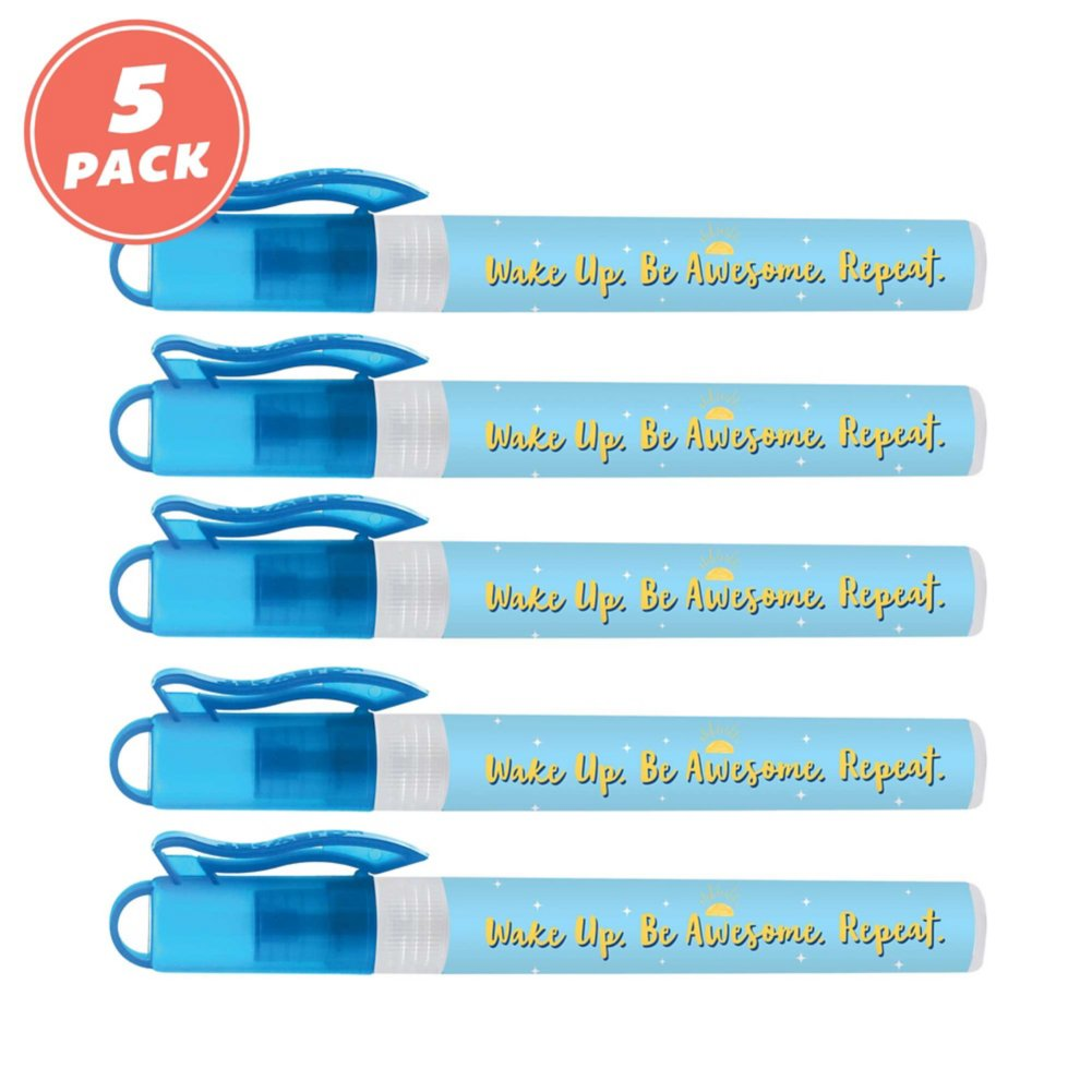 View larger image of Antibacterial Hand Sanitizing Spray Pack - Be Awesome Repeat
