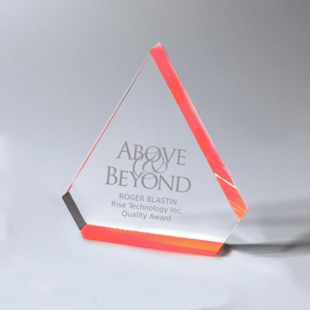 View larger image of Neon Glo Acrylic Trophy - Diamond