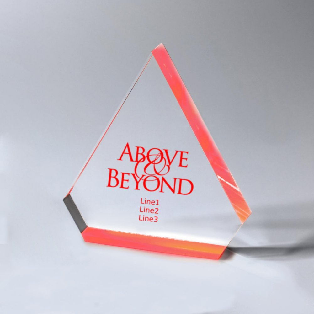 Neon Glo Acrylic Trophy - Diamond