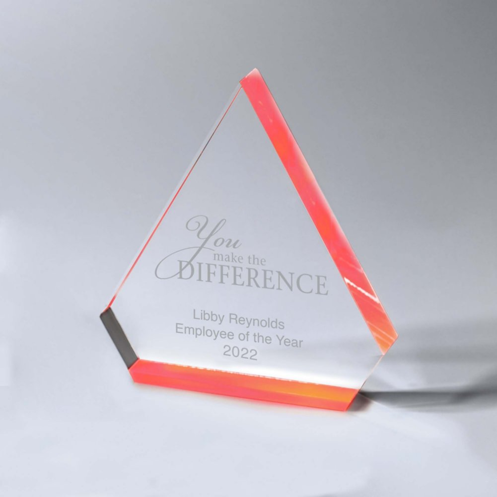 View larger image of Neon Glo Acrylic Trophy - Diamond