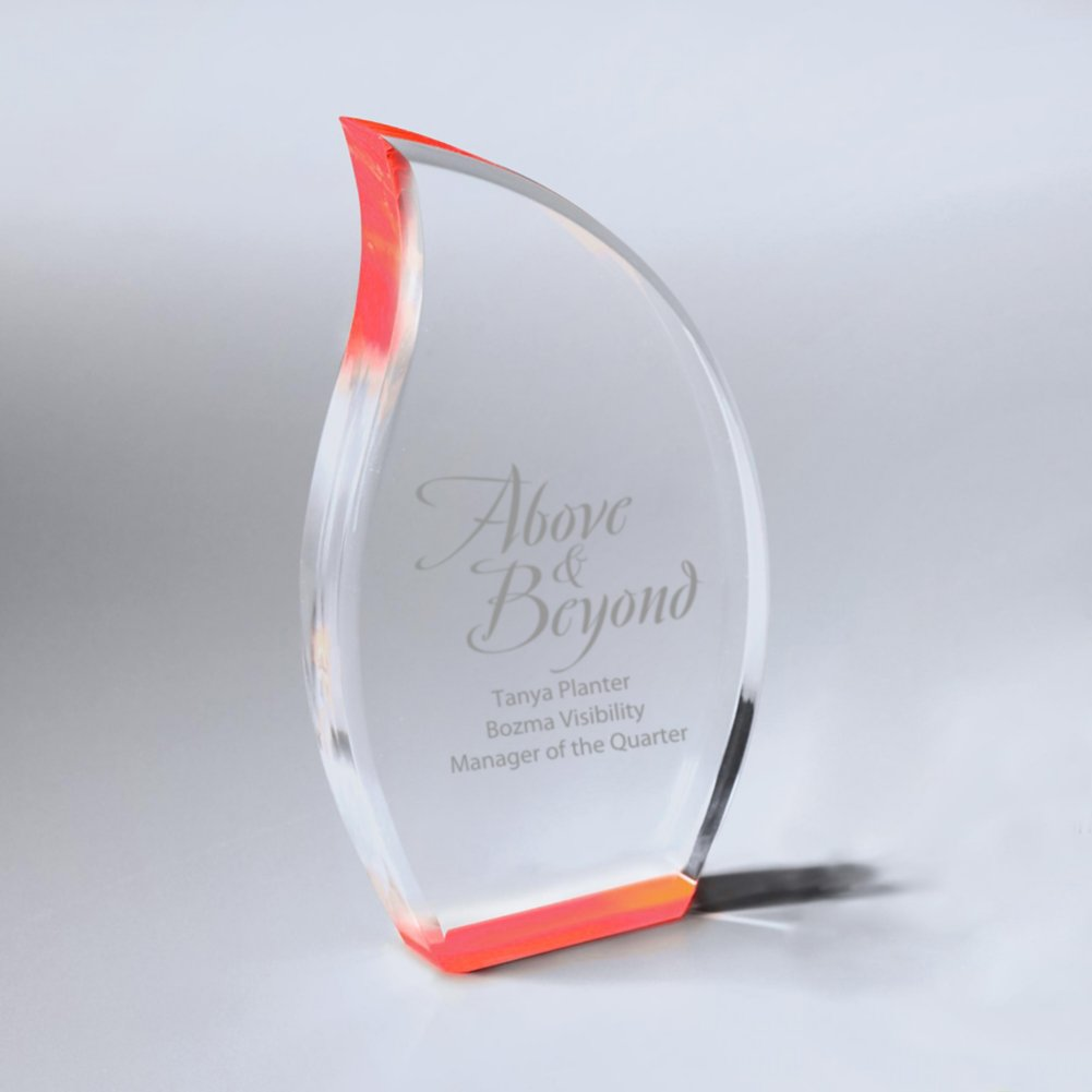 View larger image of Neon Glo Acrylic Trophy - Flame