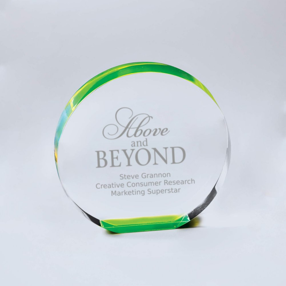 View larger image of Neon Glo Acrylic Trophy - Circle