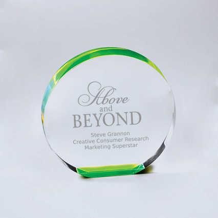 Neon Glo Acrylic Trophy - Circle