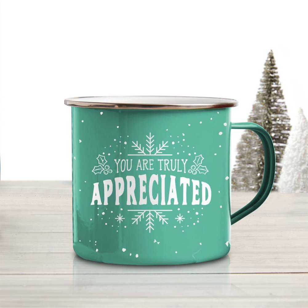 View larger image of Value Classic Enamel Mug - Truly Appreciated