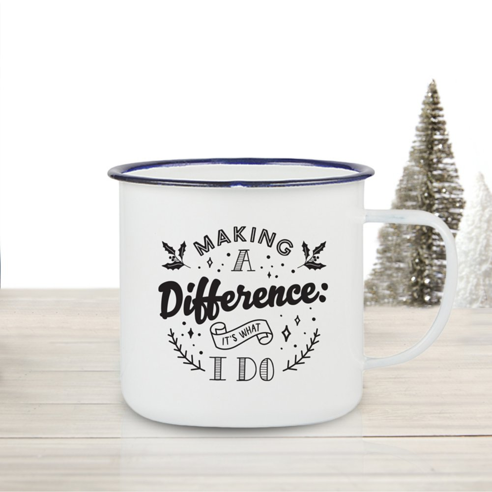 View larger image of Value Classic Enamel Mug - Making a Difference
