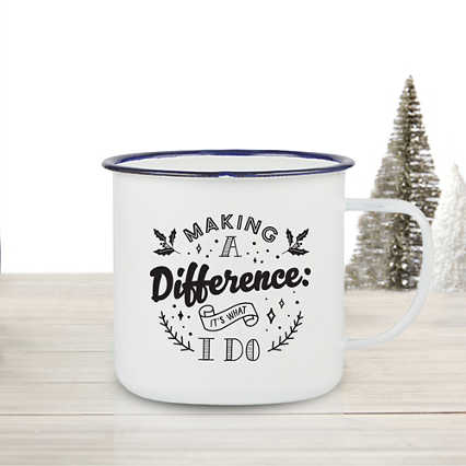 Value Classic Enamel Mug - Making a Difference