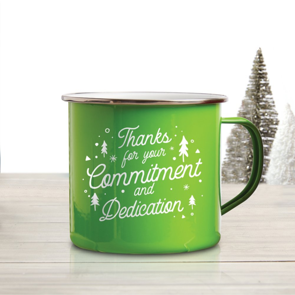 View larger image of Value Classic Enamel Mug - Commitment and Dedication