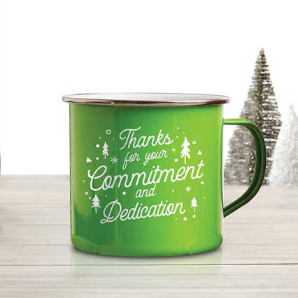 Value Classic Enamel Mug - Commitment and Dedication
