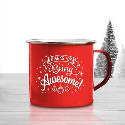 Value Classic Enamel Mug - Awesome