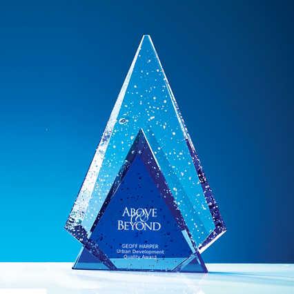 Glistening Praise Crystal Award - Peak