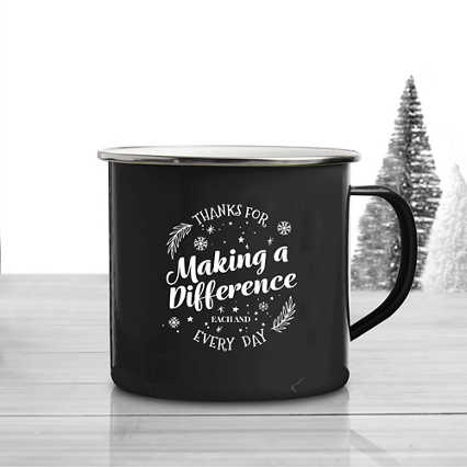 Value Classic Enamel Mug - Thanks for Making a Difference