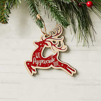 Classic Wooden Ornament - Red Deer