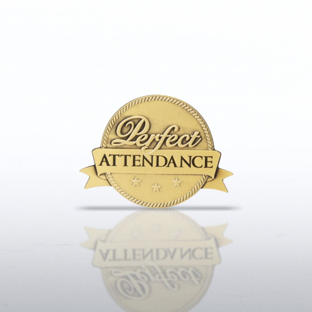 Lapel Pin - Perfect Attendance - Ribbon