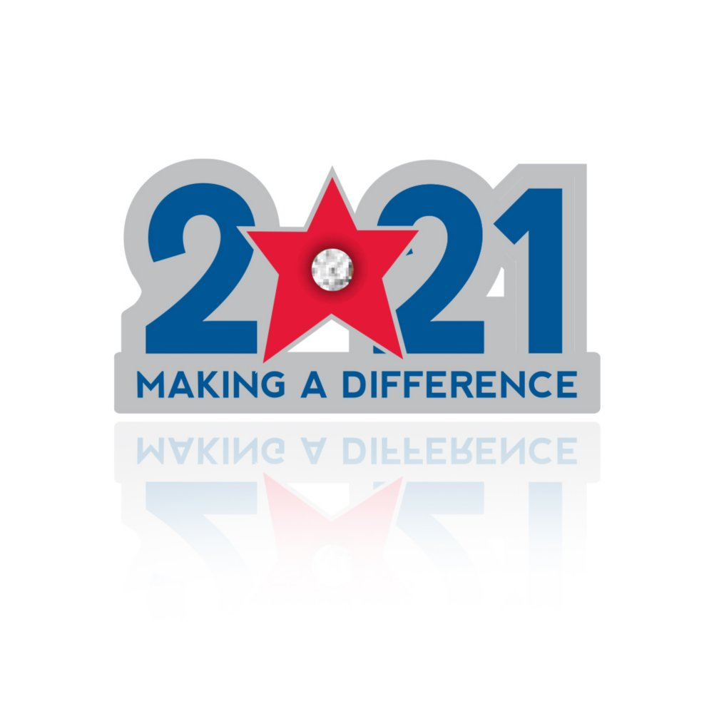 View larger image of Lapel Pin - 2021: Making a Difference with Gem